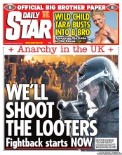 24030ca669aa80 Daily Star (UK) Front Page for 10 August 2011