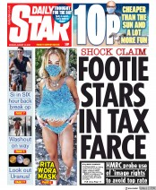 Daily Star front page for 10 August 2020