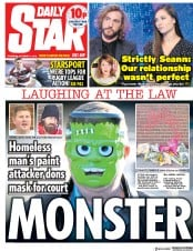 Daily Star (UK) Newspaper Front Page for 11 October 2018