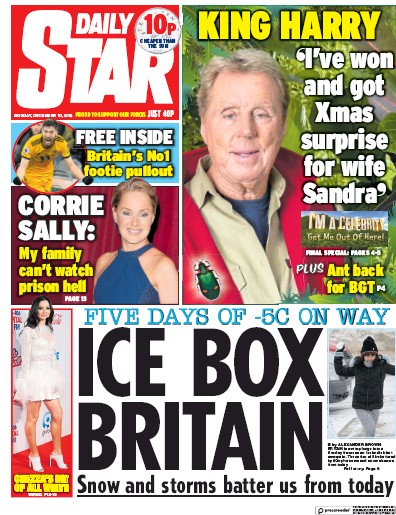 Daily Star Newspaper Front Page (UK) for 11 December 2018