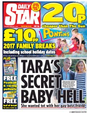 Daily Star (UK) Newspaper Front Page for 11 February 2017