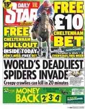 Daily Star (UK) Newspaper Front Page for 11 March 2014