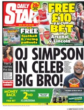 Daily Star (UK) Newspaper Front Page for 11 March 2017