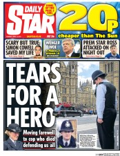 Daily Star (UK) Newspaper Front Page for 11 April 2017