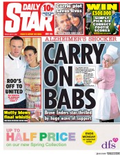 Daily Star (UK) Newspaper Front Page for 11 May 2018