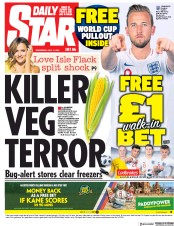 Daily Star (UK) Newspaper Front Page for 11 July 2018