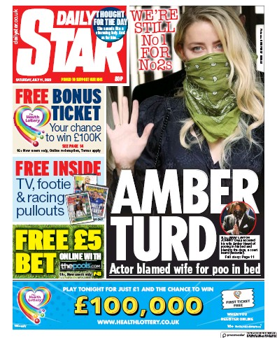 Daily Star Newspaper Front Page (UK) for 11 July 2020