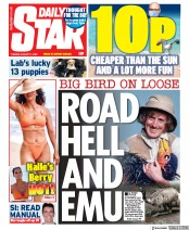 Daily Star (UK) Newspaper Front Page for 11 August 2020