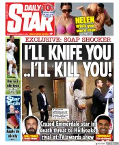 Daily Star (UK) Newspaper Front Page for 11 September 2019