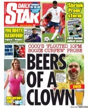 Daily Star front page for 12 October 2020