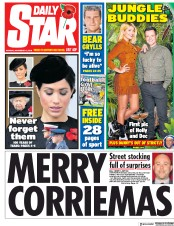 Daily Star (UK) Newspaper Front Page for 12 November 2018