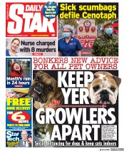 Daily Star front page for 12 November 2020