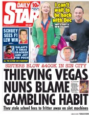 Daily Star (UK) Newspaper Front Page for 12 December 2018