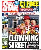 Daily Star () Newspaper Front Page for 12 December 2019