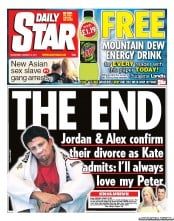 Daily Star (UK) Newspaper Front Page for 12 January 2011
