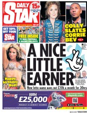 Daily Star (UK) Newspaper Front Page for 12 January 2019