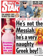 Daily Star (UK) Newspaper Front Page for 12 February 2019