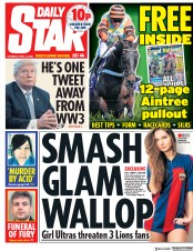 Daily Star (UK) Newspaper Front Page for 12 April 2018