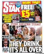 Daily Star front page for 12 April 2021