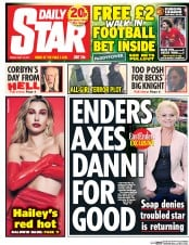 Daily Star (UK) Newspaper Front Page for 12 May 2017