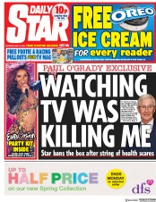 Daily Star (UK) Newspaper Front Page for 12 May 2018