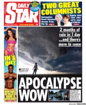 Daily Star () Newspaper Front Page for 12 June 2019