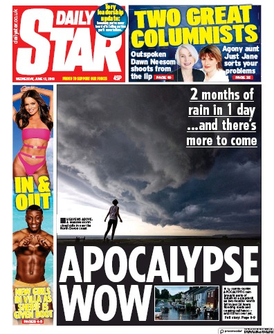 Daily Star Newspaper Front Page (UK) for 12 June 2019
