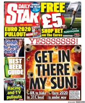 Daily Star () Newspaper Front Page for 12 June 2021