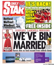 Daily Star (UK) Newspaper Front Page for 12 August 2019