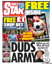 Daily Star (UK) Newspaper Front Page for 12 September 2020