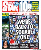 Daily Star front page for 13 October 2020