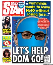 Daily Star front page for 13 November 2020