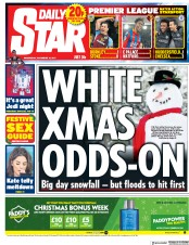 Daily Star (UK) Newspaper Front Page for 13 December 2017