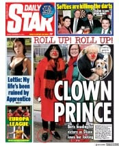 Daily Star () Newspaper Front Page for 13 December 2019