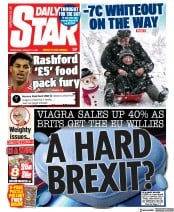 Daily Star front page for 13 January 2021