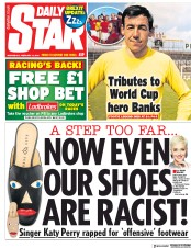 Daily Star (UK) Newspaper Front Page for 13 February 2019