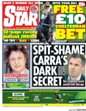 Daily Star (UK) Newspaper Front Page for 13 March 2018