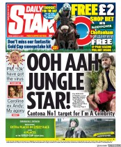 Daily Star (UK) Newspaper Front Page for 13 March 2020