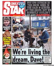 Daily Star front page for 13 April 2021