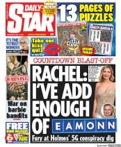 Daily Star (UK) Newspaper Front Page for 13 May 2020