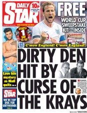 Daily Star (UK) Newspaper Front Page for 13 June 2018