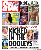 Daily Star (UK) Newspaper Front Page for 13 June 2019