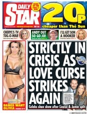 Daily Star (UK) Newspaper Front Page for 13 July 2017