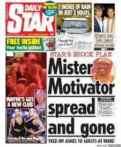 Daily Star () Newspaper Front Page for 14 October 2019