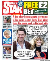 Daily Star front page for 14 October 2020