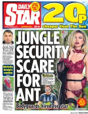 Daily Star (UK) Newspaper Front Page for 14 November 2017