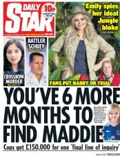 Daily Star (UK) Newspaper Front Page for 14 November 2018