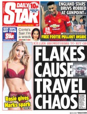 Daily Star (UK) Newspaper Front Page for 14 January 2019