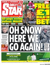 Daily Star (UK) Newspaper Front Page for 14 March 2018