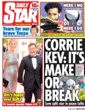 Daily Star (UK) Newspaper Front Page for 14 May 2018
